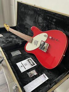 Vintage Joe Doe Jailbird Electric Guitar & Tweed Case Telecaster Red RRP £599