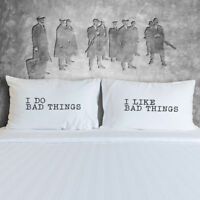 Peaky Blinders Themed Pillow CasesGift, Funny Couples Gift, Wedding Night Gift