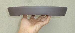 "Chipped Base Oval Zisha Bonsai Pot Planter Shohin Dwarf Unglazed 12.5""x9""x1.75"""