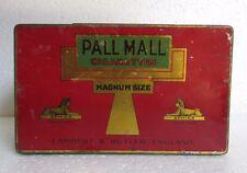 Vintage  Pall Mall Cigarettes Ad. Litho Tin box England Collectible