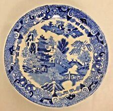 "Semi China ENGLAND Blue White 5.5"" Saucer Plate"