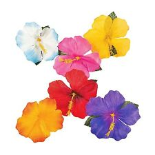 HAWAIIAN LUAU TROPICAL PARTY PACK OF 24 ARTIFICIAL HIBISCUS FLOWERS DECORATIONS