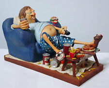 The COUCH POTATO ~ Sculpture by GUILLERMO FORCHINO Hand Made Detailed & Painted