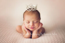 Mini Tiara Crown for Newborn - Baby Photo Prop Crystal and Rhinestone Heart 4006