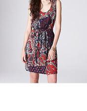 Lucky Brand Feather Patchwork Cadiz Dress Size Medium NWT Multi Colors