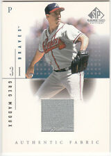 2001 UPPER DECK SP GAME USED EDITION AUTHENTIC FABRIC (GREG MADDUX) BV $15