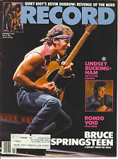 11/84 RECORD magazine  BRUCE SPRINGSTEEN cover  Lindsey Buckingham  Quiet Riot