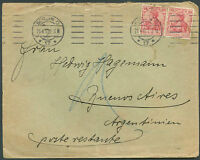 GERMANY TO ARGENTINA Cover 1912 VF