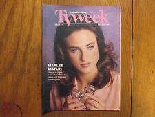 April 9, 1989 Chicago Tribune TV Week(MARLEE MATLIN/LEE REMICK/BRIDGE TO SILENCE