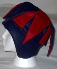 NEW fleece jester snowboard hat- blue and red