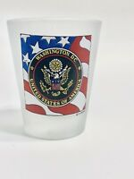 Original Washington D.C. United States of America Frosted Shot Glass Eagle Stars