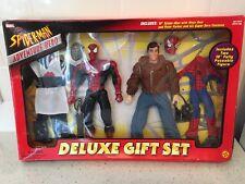 "Vintage Marvel Spider-man 10"" Action Figure Deluxe Gift Set Toy Biz 2001"