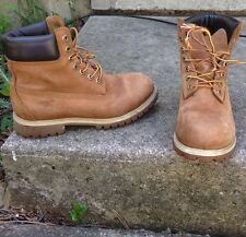 """Timberland Men's Boots 6"""" Size 7.5 Waterproof Leather Hiking Construction"""