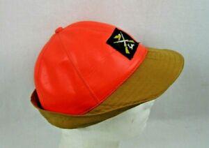 Vintage 1950's Orange /Brown  Hunting JONES Hat  Size 7 1/8