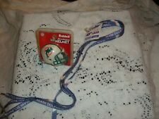 MIAMI DOLPHINS RIDDELL MINI HELMET AND SHOE LACES. SET OF TWO NEW  SEALED NFL