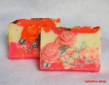 Naturseife *Rosenseife* 95g *Duftend & Verwöhnend *Handgemachte Duftseife