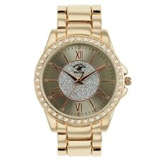 US Beverly Hills Polo Club Women's Watch Rhinestone-Accent Rose Gold-Tone Watch