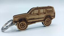 Wooden Engraved Jeep XJ Cherokee Keychain