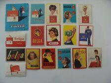 17 Anciennes Etiquettes allumette - Cigarette BELGA - Femmes et Hommes - (205)