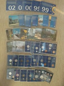 NETHERLANDS  coin  COLLECTION PERIOD 1980-2002 35 sets IN BLISTER BU