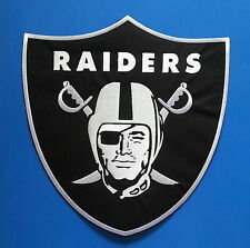 """OAKLAND RAIDERS HUGE 12"""" X 11"""" Embrodered Iron Or Sewn JUMBO BACK Patch"""