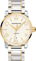 106502   BRAND NEW MONTBLANC TIMEWALKER GOLD & STEEL 39MM AUTOMATIC MENS WATCH