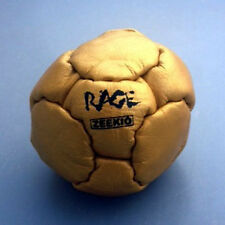 Zeekio The Rage Footbag - 14 Panel Leather  Pellet Fill - Gold