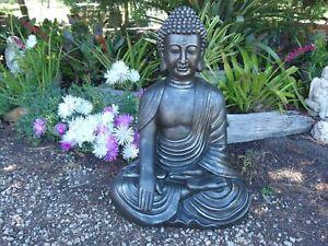 Buddha Sitting Statue Figurine Ornament Sculpture 64 cm