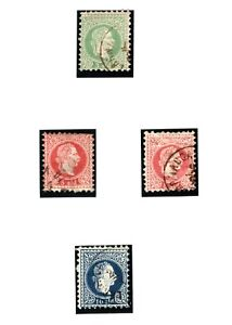 CYPRUS AUSTRIA PO ABROAD Stamps{4} Larnaca Postmarks Used Album Page YP72