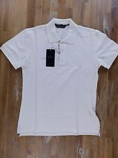 AQUASCUTUM London white polo shirt Made in Italy authentic - Size Small - NWT
