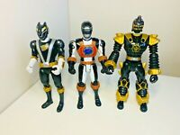 Power Rangers Dino Thunder Operation Overdrive Black Wolf Ranger Figure Bundle