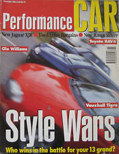 Performance Car 11/1994 featuring Jaguar X300, Ultima, Grinnall, Lotus, Vauxhall