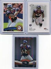 2011 Topps, Topps Platinum & Topps Legends Von Miller (3) Card RC Rookie Lot