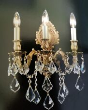 Palace Royal 3 Light  French Gold Chandelier Wall Crystal Sconce