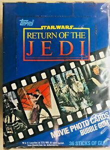 1983 Topps Star Wars Return of the Jedi Wax Box Series 1 - All 36x Packs - NO X