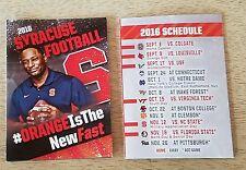 2016 football pocket schedule calendar SU Syracuse Orange Orangemen TK99 Pepsi