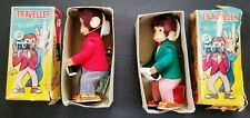 """Lot of 2 ALPS """"TRAVELER"""" Wind Up Toys In Original Boxes - Monkey With Camera"""
