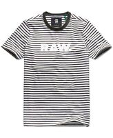 G-Star Raw Mens Shirt Black Size XL Graphic Tee Striped Logo Crew $65 #108