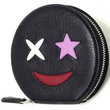 NWT Coach Coin Case in Refined Calf Leather with Star 11730 Silver/MultiColor