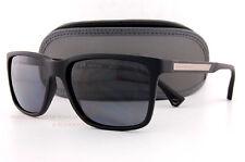 ef229a0f45c45 Brand New EMPORIO ARMANI Sunglasses 4047 5063 81 BLACK RUBBER GRAY Men