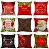 New Christmas Pillow Case Cotton Linen Sofa Car Throw Cushion Cover Home Decor