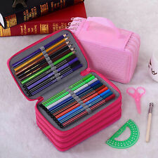 4 Layers High Capacity Pencil Brush Case Box Pen Pouch Bag Makeup Storage Bag