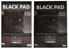 A4/A3 Frisk Black Pad 50 Sheets 135gsm Black Paper Drawing Pad Craft Art Paper