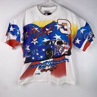 Vintage Chase Racewear Adult Sz XL Dale Earnhardt All Over Print Nascar T Shirt