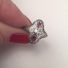 Art Deco Gold Ring Rubino Diamante Anello Oro