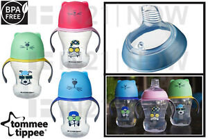 Tommee Tippee Soft Sippee Free Flow Trainer Cup Silicone Spout 230ml 6 Months +