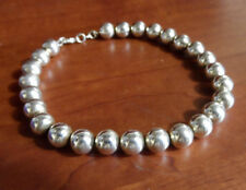 "New 925 Silver Plated Bead Strand Bracelet 8"" Anklet Boho Indie Fashion Jewelry"