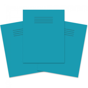 100 x Rhino Exercise Books 226x178mm 80 Pages 5mm Squares Light Blue Cover