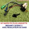 Câble 7 pins + connecteurs, contacteur tournant airbag Renault MEGANE 2,SCÉNIC 2