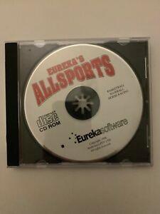 Eureka's All Sports (PC, 1998) Retro Basketball Baseball Horse Racing Game